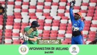 Highlights Afghanistan vs Ireland || 3rd ODI || Afghanistan vs Ireland in India 2019