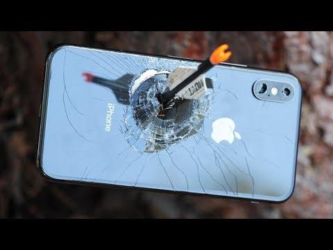 iPhone X Sağlamlık Testi (Saatte 370 KM Hızla Giden Okla Vurduk!)
