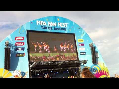 Fifa Fan Fest In Rio Copacobana - Anitta - Funk - Ass Shaking - World Cup 2014 video