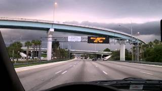 Driving I-95 from Davie Blvd. to Oakland Park Blvd. in Fort Lauderdale, Florida