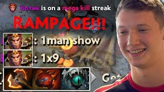 Resolut1on Monkey King - 1 Man Show 1x9 RAMPAGE Dota 2