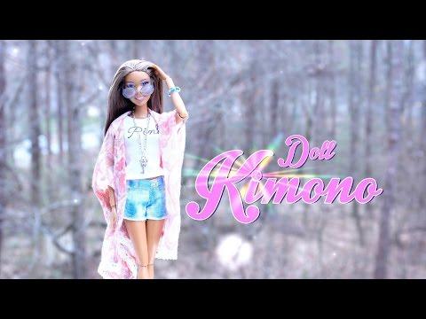 DIY - How to Make: Doll Cardigan Kimono - Handmade - Crafts - 4K