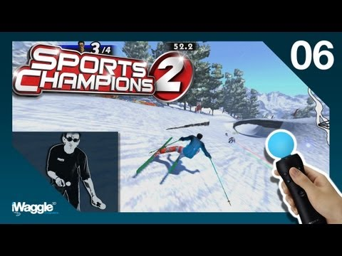 Sports Champions 2 PS Move Walkthrough - Part 6/6 [Skiing - Gold Difficulty]