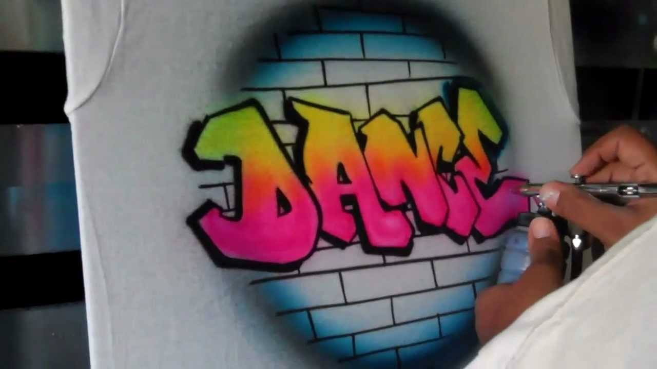 Graffiti Dance Tee (Teaser) by Art Spot Airbrush - YouTube