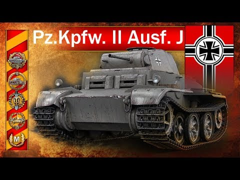 Pz.Kpfw. II Ausf. J -Twardziel i  dziwna bitwa - World of Tanks