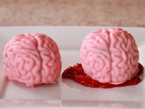 How To Make BRAIN CAKE POPS- Quake N Bake