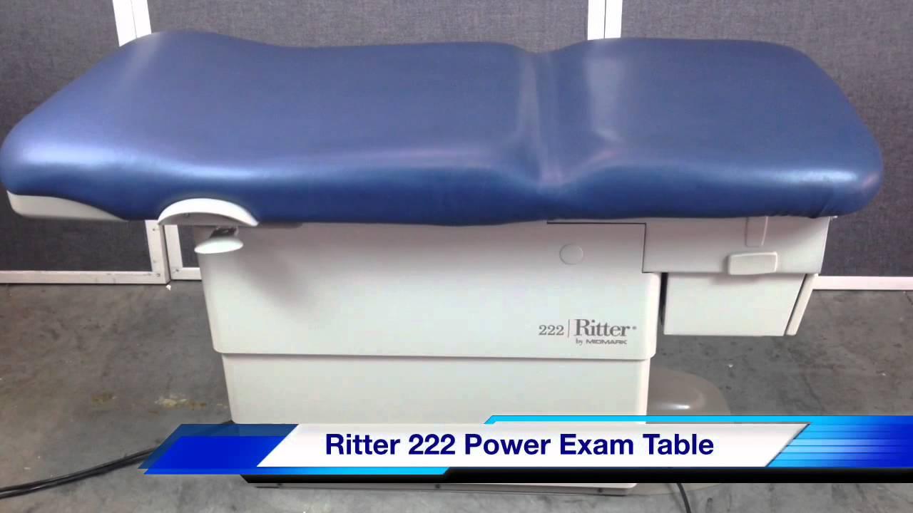 Midmark Ritter 222 Power Exam Table Youtube