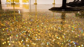 DIY Metallic Epoxy Floor Application (Gold Glitter)