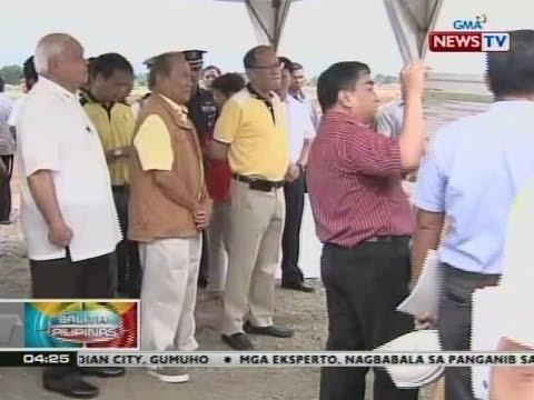 BP: Pres. Aquino, ininspeksyon ang ginagawang bagong Puerto Princesa Airport