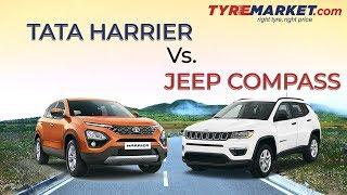 Tata Harrier Vs. Jeep Compass - SUV Comparison | Features, Prices & More!