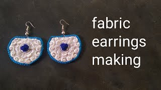 DIY Fabric earrings making handcraft handmade earrings