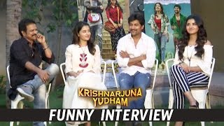 Krishnarjuna Yudham Team Funny Interview LIVE |  Nani , Anupama Parameswaran  Krishnarjuna Yudham