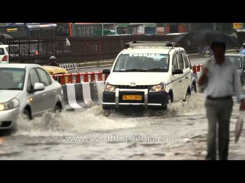 Rains bring relief to Delhi but with massive traffic jams