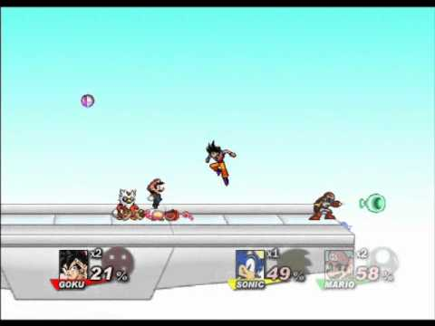 Goku Vs Naruto Vs Mario Vs Sonic - Ssf2 video
