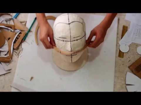 #37: RoboCop Helmet DIY 1/6 - Print & cut cardboard with template