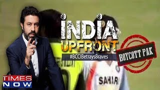 When terror lashes our border can there be cricket bonhomie?   India Upfront With Rahul Shivshankar