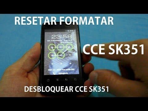 Desbloquear o CCE Sk351 (Resetar - Formatar) Tirar a Senha Padrão cce sk504