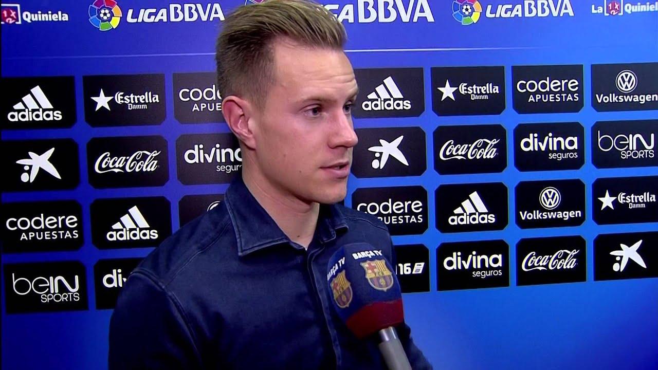 Ter Stegen y Kaptoum valoran el empate en Valencia (1-1)
