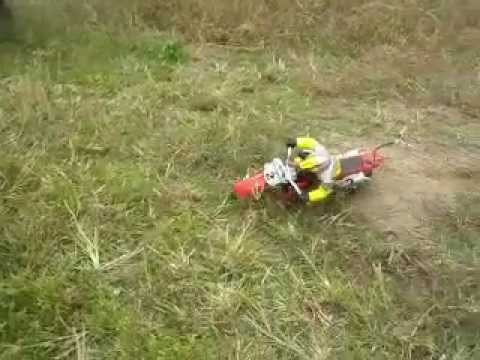RC Motocross Bike Crash accident