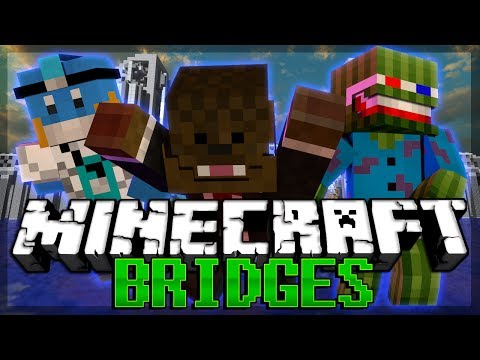 NO PANTS Minecraft The Bridges Minigame w HuskyMudkipz and Bashur