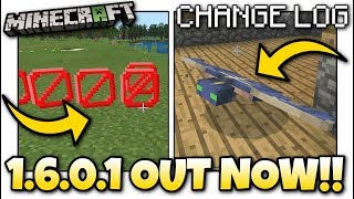 Minecraft - 1.6.0.1 BETA OUT NOW ! PHANTOMS & BARRIERS - Change Log - MCPE / Xbox / Bedrock
