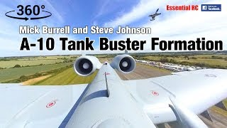 A-10 TANK BUSTER RC JETS (360 PANORAMIC ONBOARD VIDEO) *You control the view !*