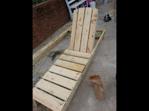 How to build a chaise lounge/ pool chair part 2.