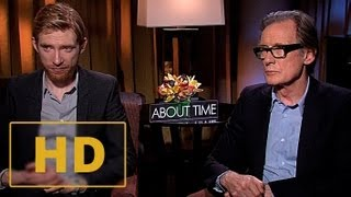 About Time - Domhnall Gleeson and Bill Nighy Interview HD (2013)