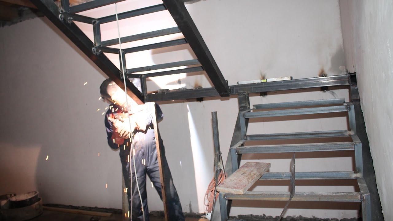 Лестница из металла на мансарду своими руками 84