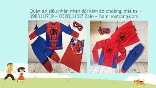 đâu bán bộ quần áo siêu nhân nhện spiderman   0328111317 Zalo