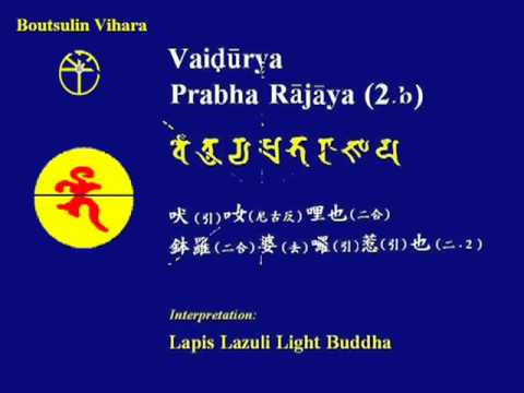 Learning Of Chanting Medicine Buddha Mantra In Sanskrit 〔fangshan Stone Canon〕 video