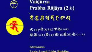 Learning of Chanting Medicine Buddha Mantra in Sanskrit 〔Fangshan Stone Canon〕