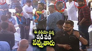 Allu Arjun and Varun Tej Funny moment at Vaishnav Tej Debut Movie Launch | Filmylooks