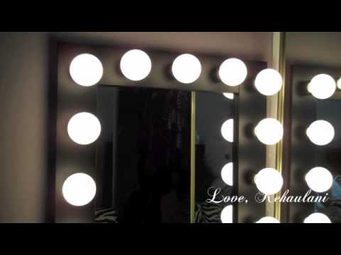 vanity girl hollywood lighted mirror youtube. Black Bedroom Furniture Sets. Home Design Ideas