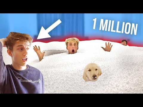I FILLED MY ROOMMATES ROOM WITH 1 MILLION BEAN BAG BEADS!! (INSANE PRANK)