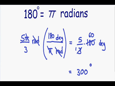 Converting radians and degrees
