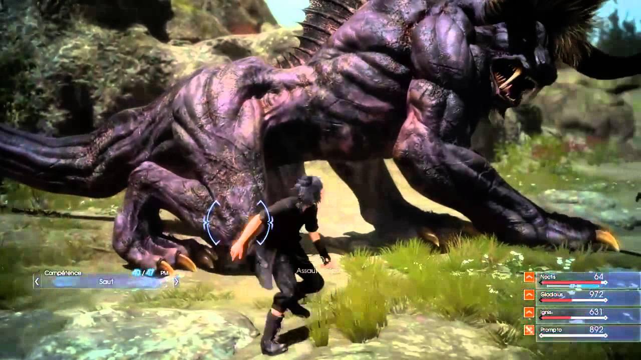 Final Fantasy XV Episode Duscae-Behemoth Battle - YouTube Behemoth Final Fantasy 15