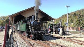 DVZO Fahrzeugtreffen 2018 - Steam locomotive and classis Swiss train meeting