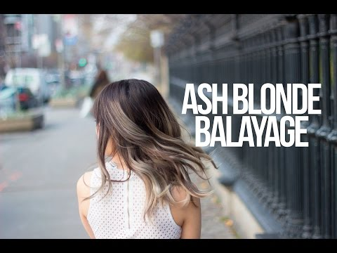 Dark ash blonde hair with