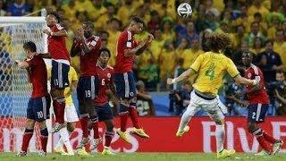 David Luiz Goal vs Colombia ~ Brazil vs Colombia 2-0 - World Cup 2014