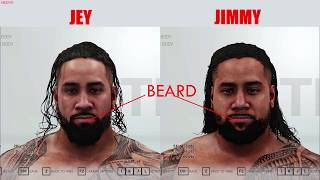 WWE 2K19 Details - Difference Between Jimmy and Jey Uso!