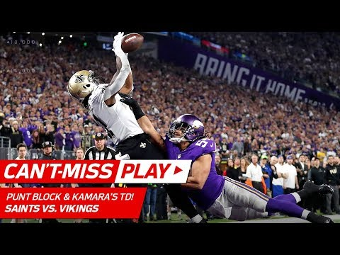 Saints Block Punt to Sets Up Brees' TD Pass to Kamara! | Can't-Miss Play | NFL Divisional HLs
