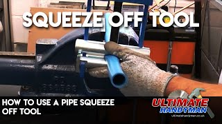 Pipe squeeze off tool