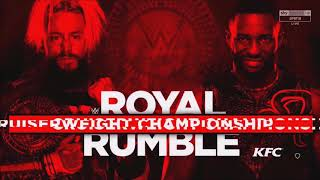 WWE Royal Rumble 2018: Enzo Amore vs. Cedric Alexander Official Match Card