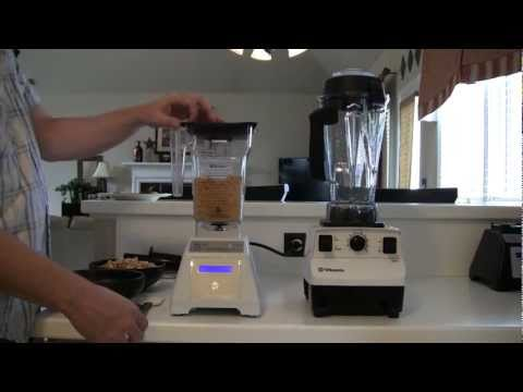 Blendtec Total Blender vs. Vitamix 5200. Part 3 of 5 - Peanut Butter (blender dude)