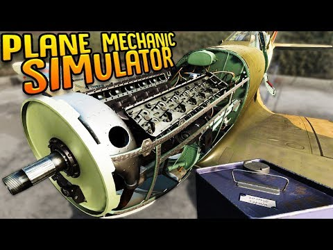 Repairing WW2 Era Planes But I know Nothing About Plane Mechanics - Plane Mechanic Simulator