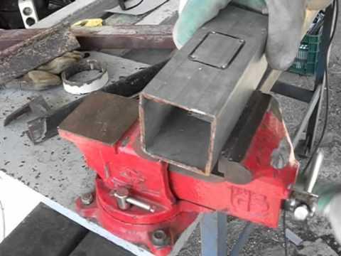 Corte cajeado  para empotrar un tubo en otro, con radial o amoladora