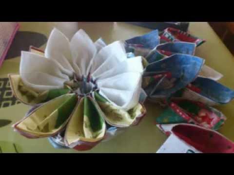 Tutorial como hacer una pi a con servilletas de papel - Centros de mesa con pinas ...