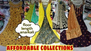 Affortable Floor length anarkali and partywear long gowns collections in sowcarpet