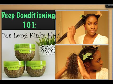 Deep Conditioning Long Kinky Natural Hair 4a 4b 4c